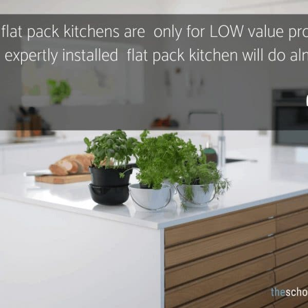 install a flat pack kitchen